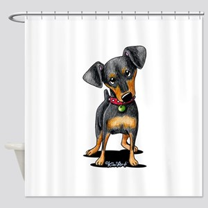 Min Pin Shower Curtain