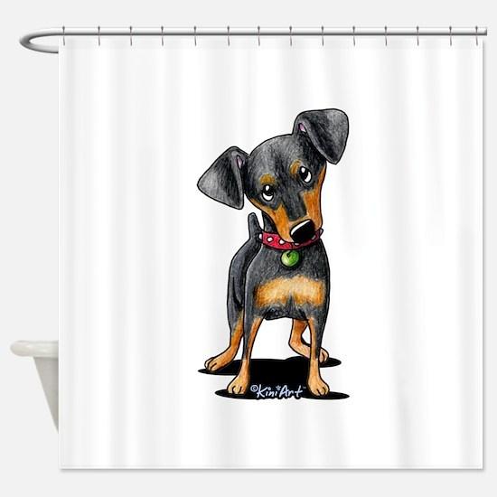 Min Pin Shower Curtain