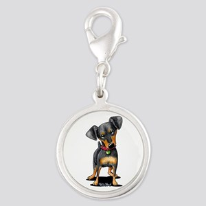 Min Pin Silver Round Charm