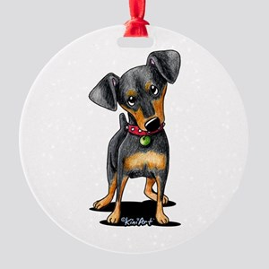 Min Pin Round Ornament