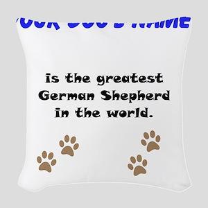 Greatest German Shepherd In The World Woven Throw