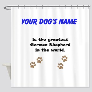 Greatest German Shepherd In The World Shower Curta