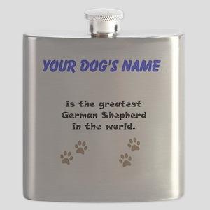 Greatest German Shepherd In The World Flask