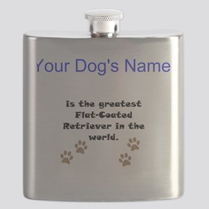 Greatest Flat-Coated Retriever In The World Flask