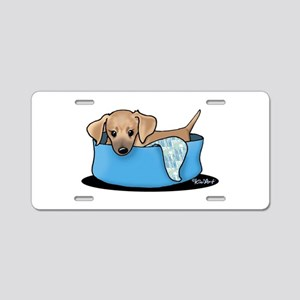 Mountain Cur Puppy Aluminum License Plate