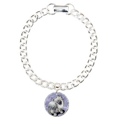 Pomeranian Moon Charm Bracelet, One Charm