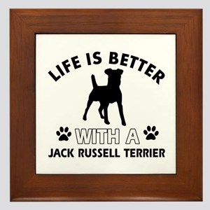 Funny Jack Russell Terrier lover designs Framed Ti