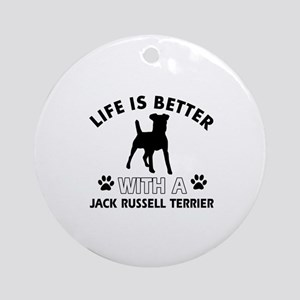 Funny Jack Russell Terrier lover designs Ornament