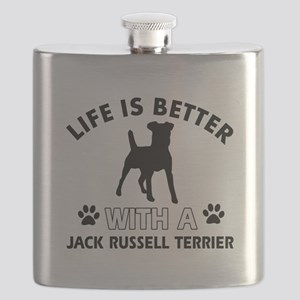 Funny Jack Russell Terrier lover designs Flask