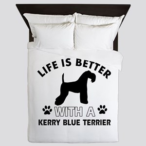 Funny Kerry Blue Terrier lover designs Queen Duvet