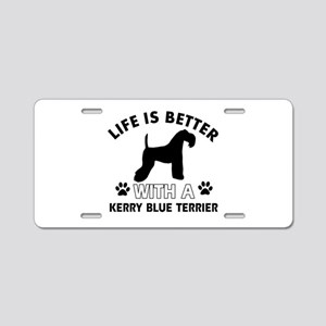 Funny Kerry Blue Terrier lover designs Aluminum Li