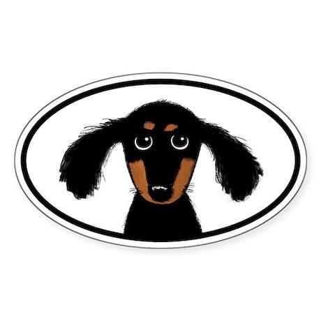 Cute Dachshund Sticker (Oval 10 pk)