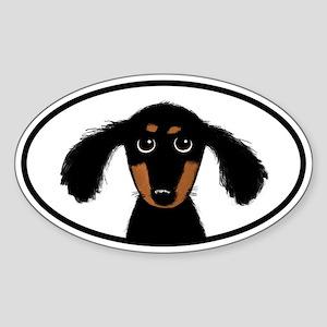 Cute Dachshund Sticker (Oval)