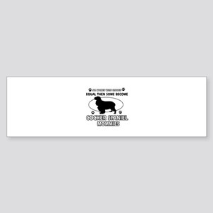Cocker Spaniel mommies are better Sticker (Bumper)