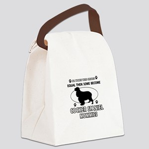 Cocker Spaniel mommies are better Canvas Lunch Bag