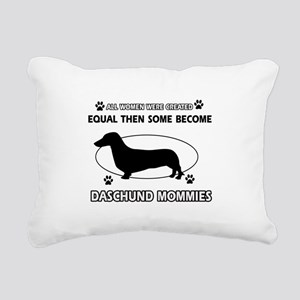 Daschund mommies are better Rectangular Canvas Pil