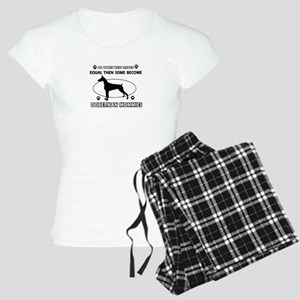 Doberman mommies are better Women's Light Pajamas