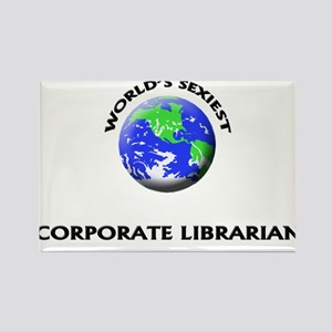 World's Sexiest Corporate Librarian Rectangle Magn