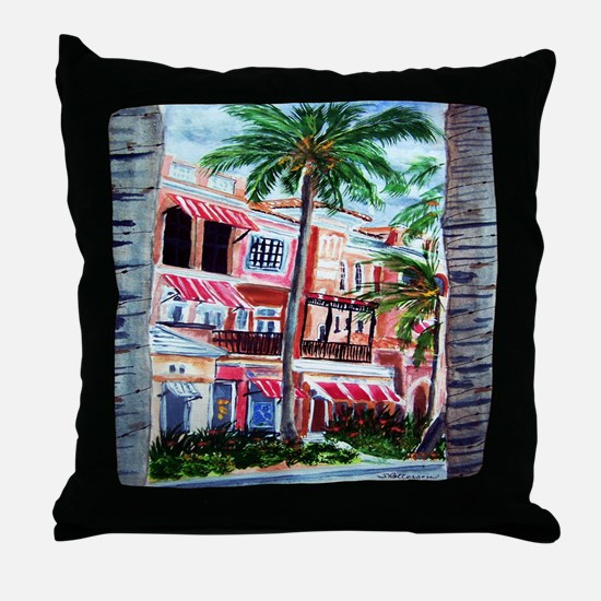"""On the Avenue"" Throw Pillow"