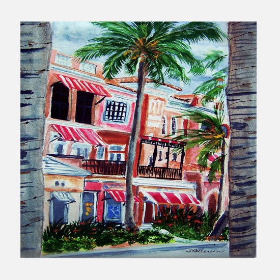"""On the Avenue"" Tile Coaster"