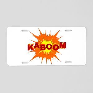 Kaboom Cartoon Explosion Aluminum License Plate