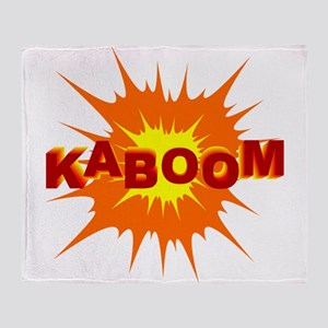 Kaboom Cartoon Explosion Throw Blanket
