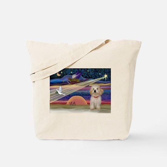XmasStar Havanese pup Tote Bag