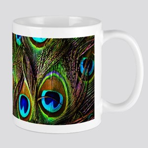 Peacock Feathers Invasion Mug