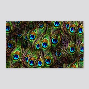 Peacock Feathers Invasion 3'x5' Area Rug