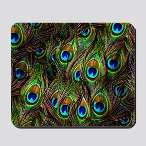 Peacock Feathers Invasion Mousepad