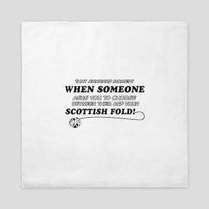 Scottish Fold designs Queen Duvet