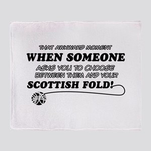 Scottish Fold designs Throw Blanket