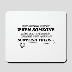 Scottish Fold designs Mousepad