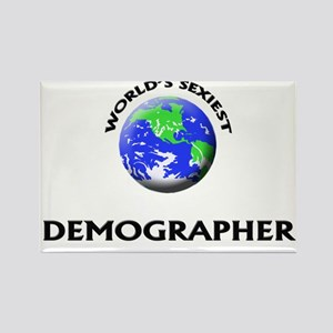 World's Sexiest Demographer Rectangle Magnet