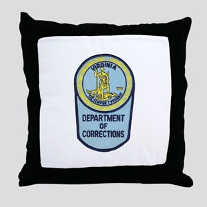 Virginia Corrections Throw Pillow