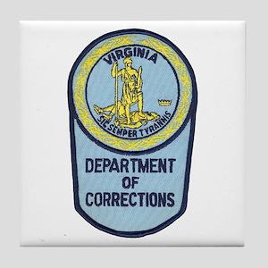 Virginia Corrections Tile Coaster