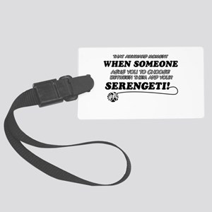 Serengeti designs Large Luggage Tag