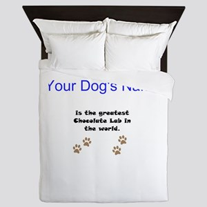 Greatest Chocolate Lab In The World Queen Duvet