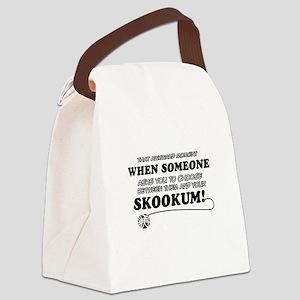 Skookum designs Canvas Lunch Bag