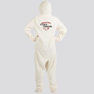Police Officers Wife Footed Pajamas