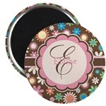 Personalized Name Flower Pattern Magnet