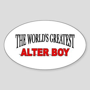 """The World's Greatest Alter Boy"" Oval Sticker"