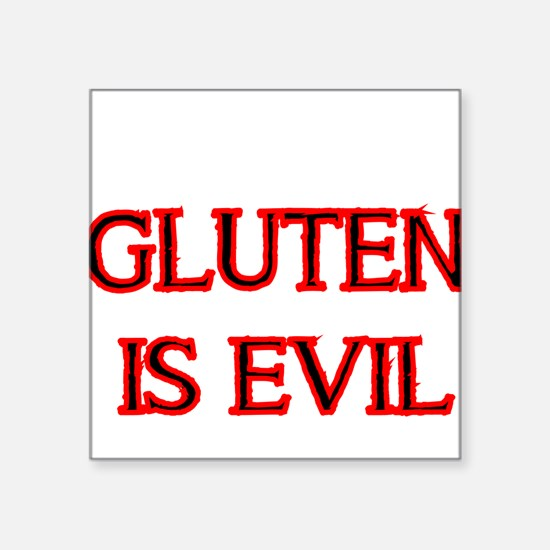 GLUTEN IS EVIL 2 Sticker