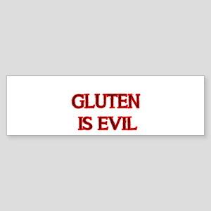GLUTEN IS EVIL 2 Bumper Sticker