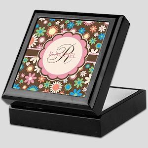 Personalized Name Flower Pattern Keepsake Box