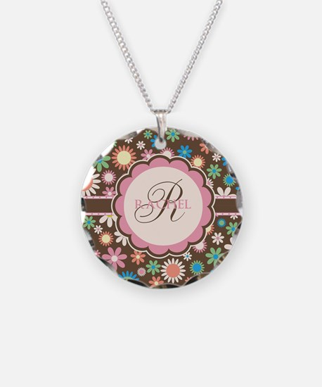 Personalized Name Flower Pattern Necklace