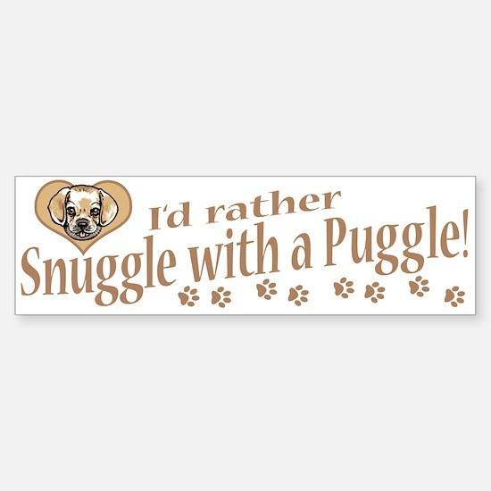 Snuggle Puggle Bumper Car Car Sticker