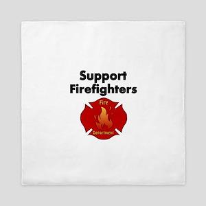 SUPPORT FIREFIGHTER Queen Duvet