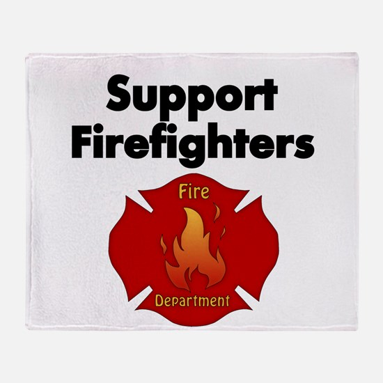 SUPPORT FIREFIGHTER Throw Blanket