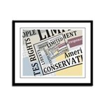 Limited Government Framed Panel Print